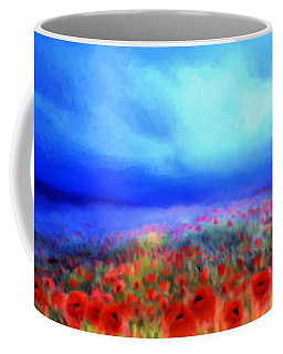 Poppies In The Mist Coffee Mug