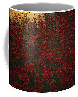 Poppies In The Rain Coffee Mug