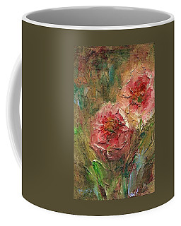 Coffee Mug featuring the painting Poppies by Mary Wolf
