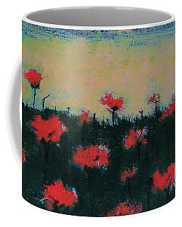 Coffee Mug featuring the painting Poppy Field by Jacqueline McReynolds