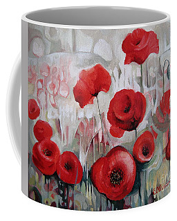 Coffee Mug featuring the painting Poppy Flowers by Elena Oleniuc