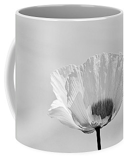 Poppy In White Coffee Mug by Ludwig Keck