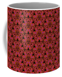 Coffee Mug featuring the digital art Poppy Sierpinski Triangle Fractal by Judi Suni Hall