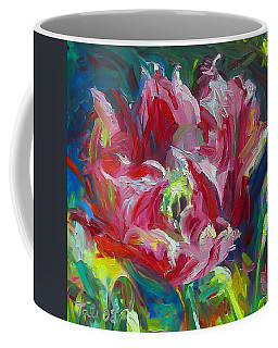 Coffee Mug featuring the painting Poppy's Secret  by Talya Johnson