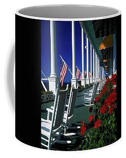 Porch Of The Grand Hotel, Mackinac Coffee Mug