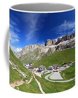Pordoi Pass And Mountain Coffee Mug by Antonio Scarpi