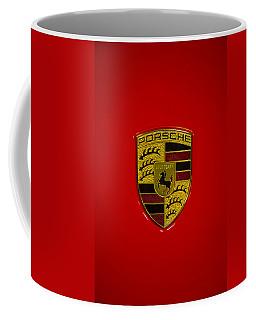 Porsche Emblem Red Hood Coffee Mug