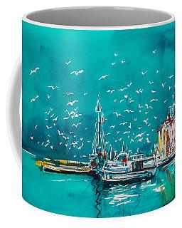 Port Coffee Mug by Kovacs Anna Brigitta