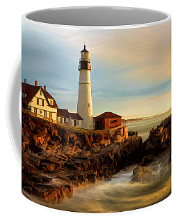 Portland Head Lighthouse At Dawn Coffee Mug
