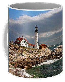 Coffee Mug featuring the photograph Portland Headlight by John Haldane