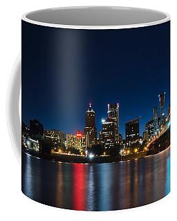 Portland Oregon Nightscape Coffee Mug by Don Schwartz