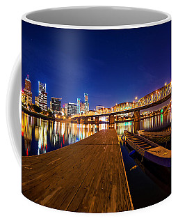 Coffee Mug featuring the photograph Portland Under The Stars by Dustin  LeFevre