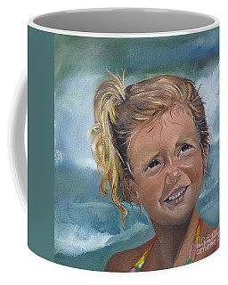 Portrait - Emma - Beach Coffee Mug by Jan Dappen