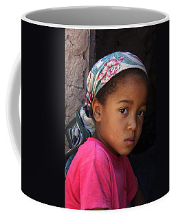 Portrait Of A Berber Girl Coffee Mug by Ralph A  Ledergerber-Photography