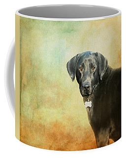 Portrait Of A Black Labrador Retriever Coffee Mug