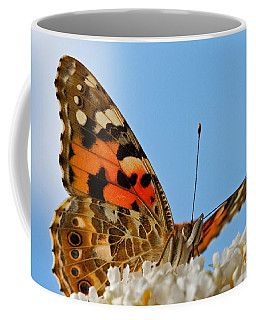 Coffee Mug featuring the photograph Portrait Of A Butterfly by Nick  Biemans