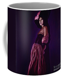 Portrait Of A Lady In Violet Coffee Mug