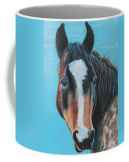 Coffee Mug featuring the painting Portrait Of A Wild Horse by Jeanne Fischer