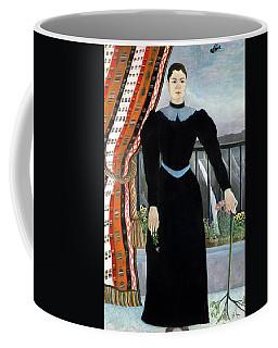 Portrait Of A Woman, 1895 Oil On Canvas Coffee Mug
