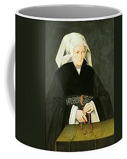 Portrait Of A Woman, C.1550 Oil On Panel Coffee Mug