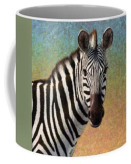 Portrait Of A Zebra - Square Coffee Mug