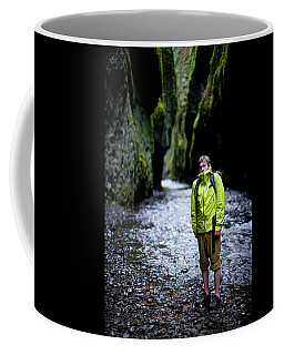 Portrait Of Adult Male Hiker Coffee Mug