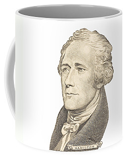 Portrait Of Alexander Hamilton On White Background Coffee Mug