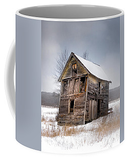 Portrait Of An Old Shack - Agriculural Buildings And Barns Coffee Mug