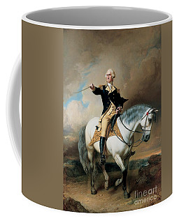 Portrait Of George Washington Taking The Salute At Trenton Coffee Mug