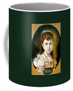 Coffee Mug featuring the painting Portrait Of Little Girl by Henryk Gorecki