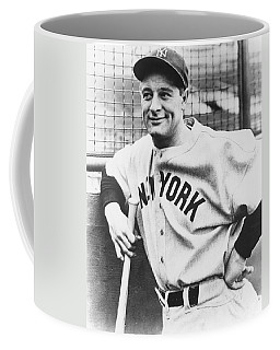 Portrait Of Lou Gehrig Coffee Mug