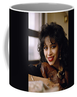 Portrait Of Ofra Haza Coffee Mug by Shaun Higson