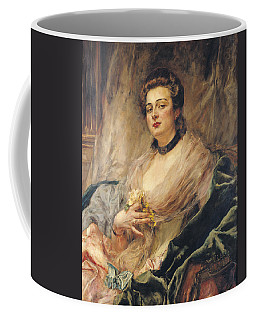 Portrait Of The Artists Wife Oil On Canvas Coffee Mug