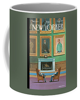 Portraits Of Wealthy Men Are Displayed Coffee Mug