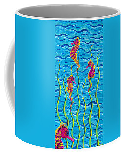 Poseidon's Steed Painting Bomber Coffee Mug by Rebecca Parker