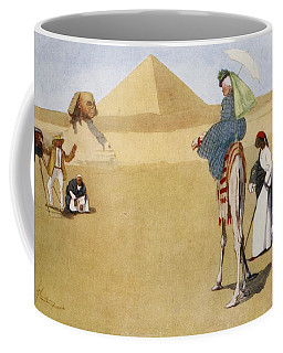 Posing At The Pyramids, From The Light Coffee Mug
