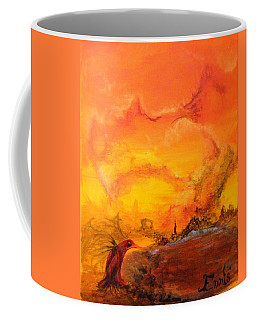 Post Nuclear Watering Hole Coffee Mug by Christophe Ennis