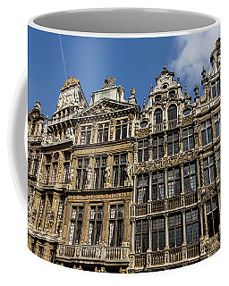 Coffee Mug featuring the photograph Postcard From Brussels - Grand Place Elegant Facades by Georgia Mizuleva