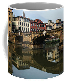 Coffee Mug featuring the photograph Postcard From Florence  by Georgia Mizuleva