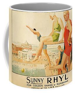 Poster Advertising Sunny Rhyl  Coffee Mug