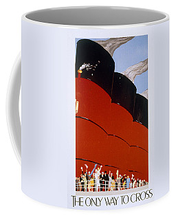 Poster Advertising The Rms Queen Mary Coffee Mug