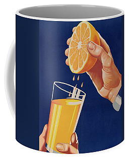 Poster With A Glass Of Orange Juice Coffee Mug
