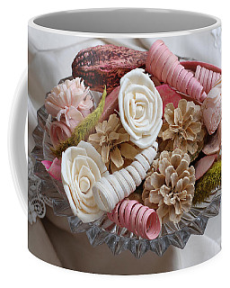 Potpourri In Pink And Cream Coffee Mug by Connie Fox