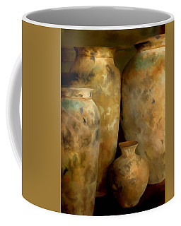 Coffee Mug featuring the painting Pots Of Time by Michael Pickett