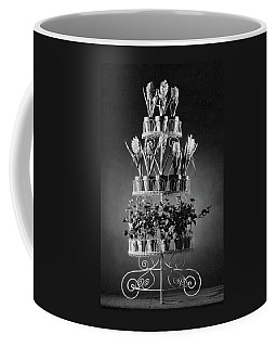 Potted Flowers On A Wrought Iron Stand Coffee Mug