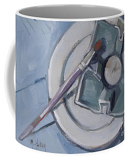Pottery And Paintbrush Still Life Painting Coffee Mug