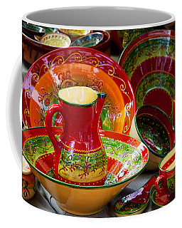 Pottery For Sale At A Market Stall Coffee Mug