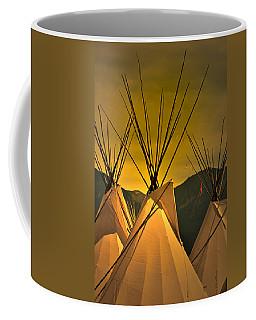 Powwow Camp At Sunrise Coffee Mug