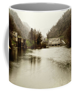 Power Plant On River Coffee Mug