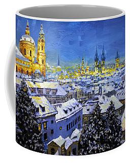 Prague After Snow Fall Coffee Mug